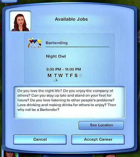 Bartender Career | MissyHissy's Job Centre